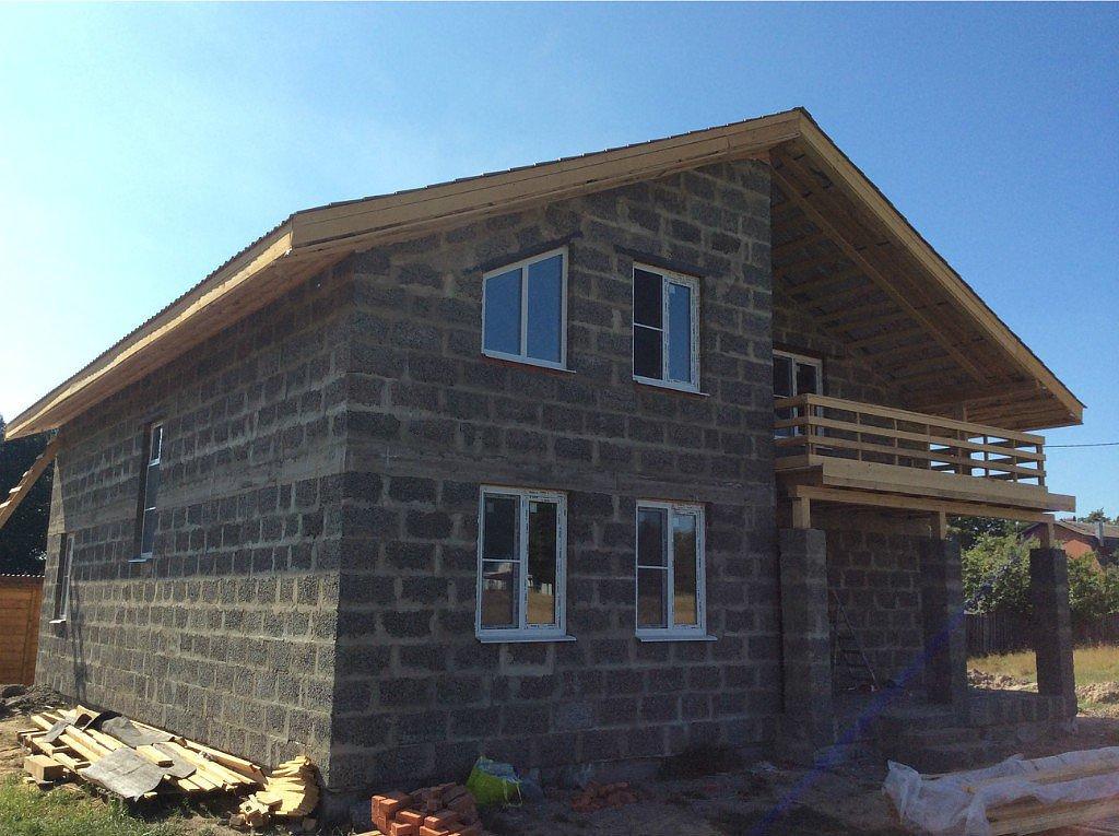дом из арболита блоков